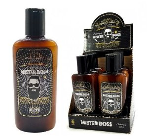 06 Shampoo 3 em 1 P/ Barba Mister Boss Safira - 10,40 Cada