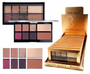 Display Paleta de Luxo Sombras e Contorno Natural Beauty Belle Angel T012 ( 12 Unidades )