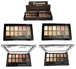 Display com 12 Paletas de Sombras Matte Alta Pigmentação 12 Cores Playboy HB94484