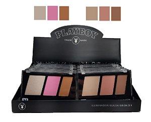 Kit de Maquiagem Iluminador, Blush e Contorno PLayboy HB96744 ( 16 Unidades )