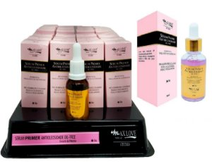 Display do Novo Serum Primer Antioleosidade Oil-Free DIA Max Love ( 24 Unidades + provador )