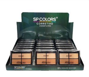 Quarteto de Corretivo Facial 4 Tons SP Colors SP091 ( 24 Unidades )