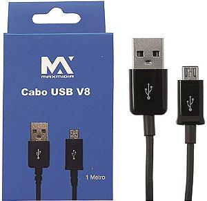 Max Midia - Cabo Usb para Celular Tipo V8 MAx-V8444 - 10 Unidades