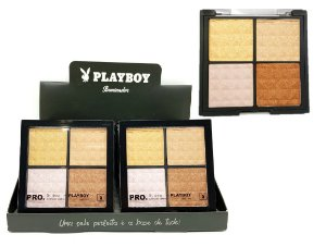 DIsplay Paleta Quarteto Iluminador Playboy HB94486 ( Display com 12 unidades )