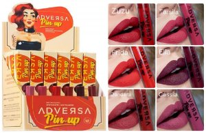 Batom Matte Adversa Pin Up ( 24 Unidades e provadores )