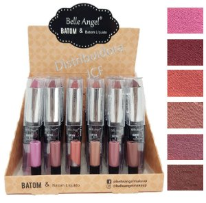 06 Batom Duo Matte Belle Angel B073-A