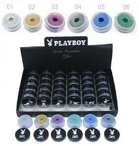 Display de Sombras Glitter em Pó Playboy PB1030 ( 36 Unidades )