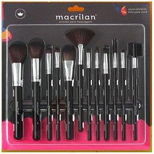 Kit 12 Pincéis Para Maquiagem Macrilan KP9-1A ( 06 Unidades )