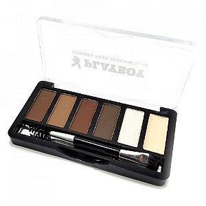 Kit completo para sobrancelhas, Sombras, Iluminador e Fixador Playboy HB94488