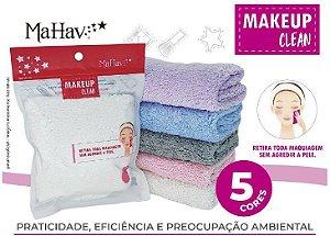Nova Toalha Make Up Clean Removedora de Maquiagem cor Rosa ( 12 Unidades )