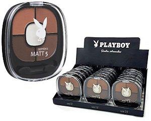 Kit de Sombras para Sobrancelhas com Iluminador Matt5 Playboy HB89559 ( 18 Unidades )