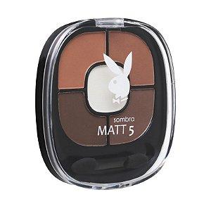 Kit de Sombras para Sobrancelhas com Iluminador Matt5 Playboy HB89559