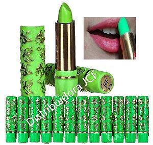 144 Batom 24 Horas Embalagem Verde BF10015 ( 12 Cxs com 12 Batons  )