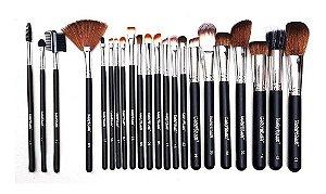 Kit de Pincéis Profissionais para Maquiagem Macrilan c/ 22 Pincéis KP3-7B