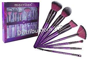 KIt de Pincéis Profissionais Macrilan Violet ED005