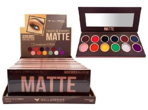 Paleta de Sombras Premium Collection Matte BF10065 ( 12 Unidades )