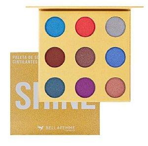 Paleta Sombras Shine Premium Collection com Espelho BF10069