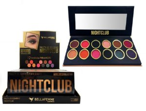 Paleta de Sombras Nightclub BF10063 – Display com 12 estojos