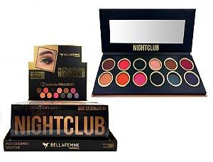 Paleta de Sombras Nightclub BF10063 – Display com 12 estojos