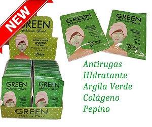 Máscara Facial Antirugas e Hidratante Green Beleza Juvenil ( 50 Unidades )