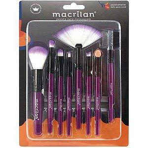 Kit com 8 Pincéis para Maquiagem KP3-1A Macrilan