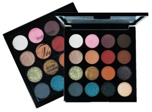 ​Paleta de 15 Sombras e 01 Fixador The Hypnotic Ruby Rose HB1024
