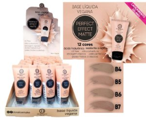 Display Base Vegana Perfect Effect Matte Doralice Cores Médias ( 24 Unidades + Provadores )