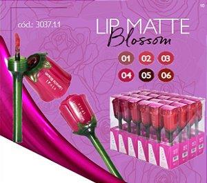 Lip Matte Blosson Rosas Vivai 3037 ( 24 Unidades - 06 Cores )