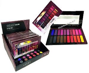 Paleta de Sombras Vibrant Colors 20 Cores Vivai 4011 ( Display com 12 Unidades e Demonstrador )