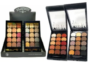 Paleta de Sombras Matte Alta Pigmentação 15 Cores Playboy HB94720PB ( 12 Unidades )