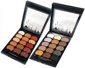 2 Paleta de Sombras Matte Alta Pigmentação 15 Cores Playboy HB94720PB ( A e B )