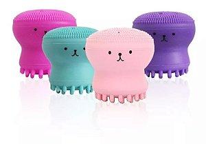 Esponja de Limpeza e Massagem Facial POlvo Hello Mini  LS260