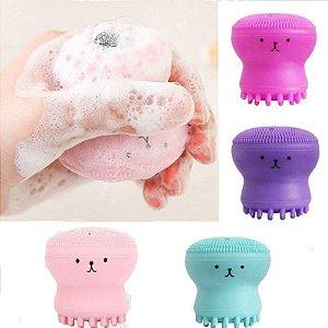 Esponja de Limpeza e Massagem Facial Polvo Hello Mini ( 12 Unidades )