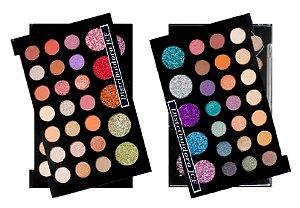 Display Paleta Sombra e Glitter Atitude SP Colors 142 ( 12 Unidades )