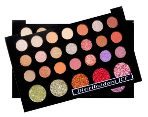 Paleta Sombra e Glitter Atitude SP Colors SP142-A