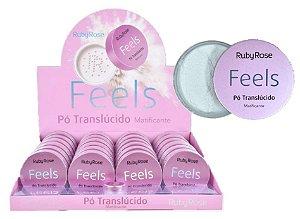 Pó Translucido Matificante Feels Ruby Rose HB7224 ( 24 Unidades + Provador )