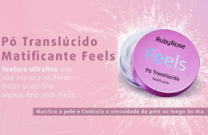 ​Pó Translucido Matificante Feels Ruby Rose HB7224