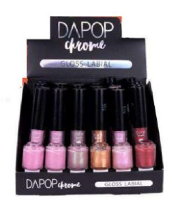 Gloss Labial Chrome Dapop DP2046 ( 24 Unidades + Provadores )