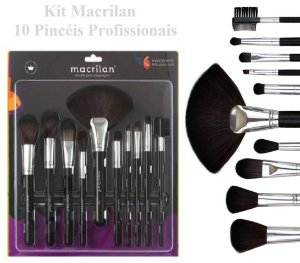 Kit de 10 Pincéis Profissionais Macrilan KP9-1B  -  3 Kits