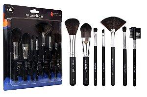 Kit 7 Pincéis Para Maquiagem Macrilan KP9-2A ( 12 Unidades )