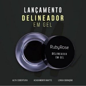 Delineador em Gel Black Ruby Rose HB840