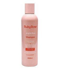 Shampoo Argila Rosa Ruby Rose HB800 - Kit com 4 unidades