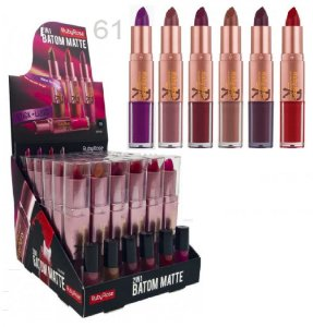 Batom Duo Matte 2 em 1 Ruby Rose HB8606 - 61  (Display 36 Unid e Provadores )