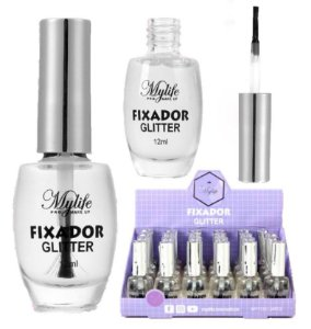 Cola Fixador de Glitter 12 ml Mylife MY7133 - Display com 24 Unidades