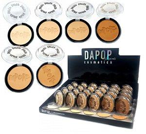 Pó Compacto Facial Cores Claras Dapop DP2010 - Display com 24 unidades