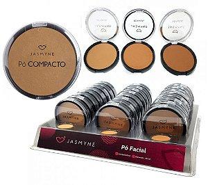 Pò Facial COmpacto Cores Médias Jasmyne JS00018-B - Display com 24 Unid + Prov