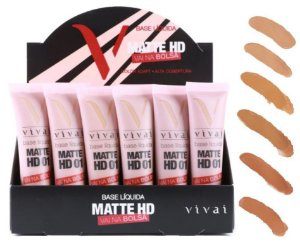 Base Matte HD Vai na Bolsa 12ml Vivai 1007 - Kit com 24 Unidades