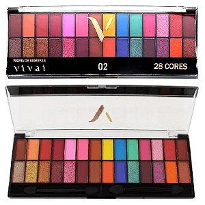 Vivai - Paleta de Sombras 28 Cores  2198 - 02