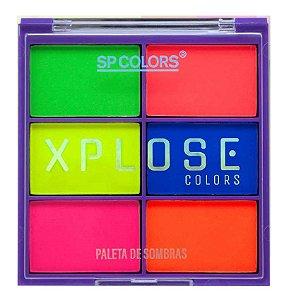 Paleta de Sombras Neon Xplose Cores Quentes SP Color SP173 - Kit com 24 Unidades