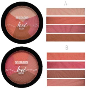 Blush Mosaico Love 4 Tons SP Color SP130 - Kit com 24 Unidades